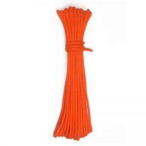 15 méter hosszú narancssárga kötél 7mm
