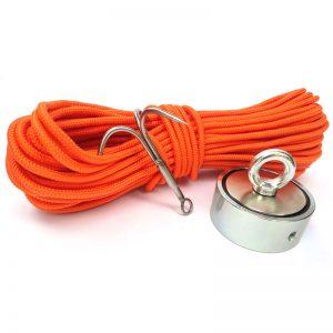 PREMIUM mágnes horgász készlet (kétoldalas mágnes (500 kg) + horog + kötél (30 méter))