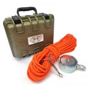 PREMIUM TRAVEL mágnes horgász készlet (kétoldalas mágnes (500 kg) + horog + kötél (30 méter) + szálító doboz)