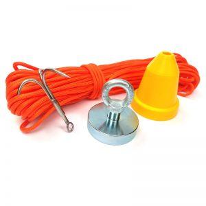 STANDARD mágnes horgász készlet (mágnes (290 kg) + elakadásgátló kúp + horog + kötél (30 méter))